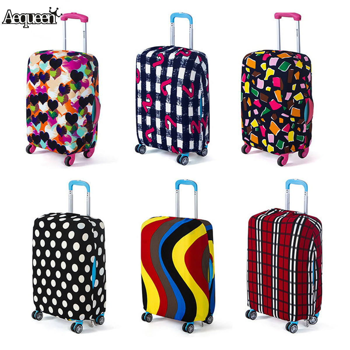 18-20 Elastic Luggage Suitcase Cover Protective Bag Thicker Dustproof Case Protector Travel Accessorie Luggage Cover