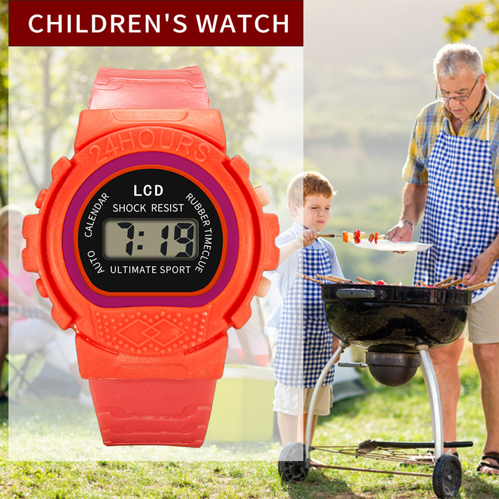 Children's Watch Analog Digital Sports Smart Solid Color LED Electronic Waterproof Boys and Girls Outdoor Watch New часы  03