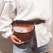 Guarder Fashion PU Leather Belt Bag Women Phone Pouch Fanny Pack Luxury Brand Shoulder Bags New Style Waist Packs Female GUA0017