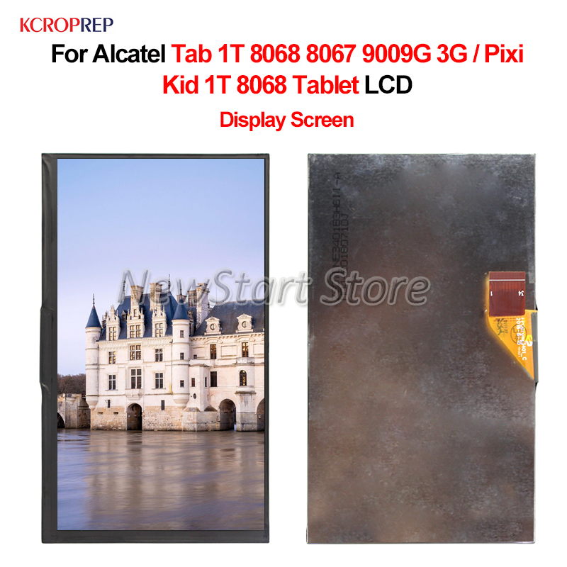 For Alcatel Tab 1T 8068 8067 9009G 3G LCD Display Screen Digitizer Assembly For Alcatel Pixi Kid 1T 8068 Tablet lcd ReplacementMobile Phone LCD Screens   -