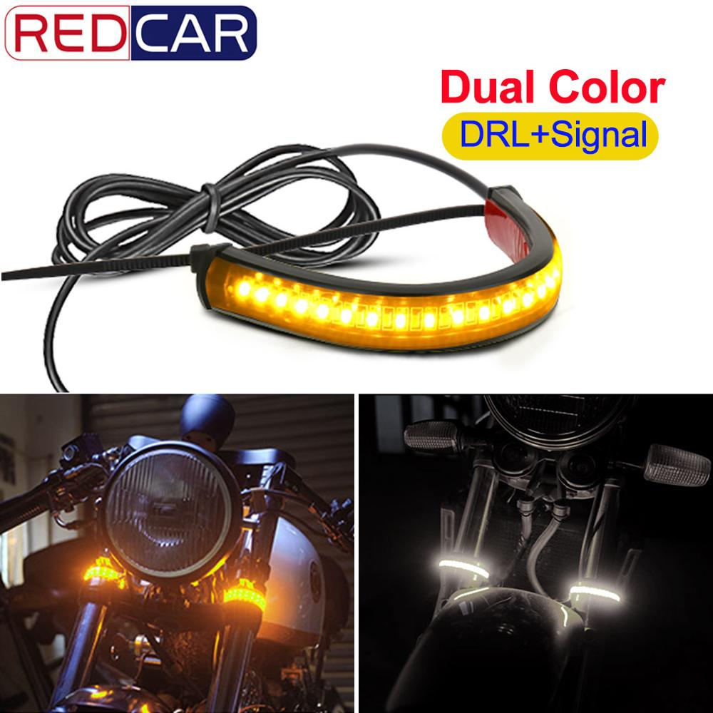 1pcs Universal Motorcycle Turn Signal Light DRL Light 36SMD 3014 Chips Flowing Flashing Blinker White Yellow 12V Waterproof