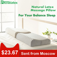 PurenLatex 60x40 Thailand Pure Natural Latex Pillow Remedial Neck Protect Vertebrae Orthopedic Massage Spots Body Support Pillow