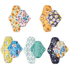 Happyflute 10PCS/Set Reusable Pads bamboo Charcoal Sanitary Pads Mama Menstrual Pads Washable Panty Liner Pads Health Femin