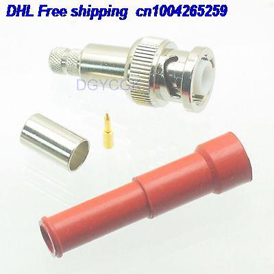 DHL 50pcs MHV 3000V BNC Male High Voltage Audio Solder RG59 RG62 Connector  22-ct