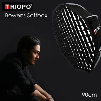 Triopo K90 90cm Studio przenośne Softbox w Honeycomb siatki Bowens mocowanie zdjęcia wideo Octagon parasol miękkie pudełko dla Godox Jinbei tanie i dobre opinie ightpro K90-Grid Nylon 0 9kg Diffusers Grid Carrying Bag 60 x 20 x 20cm