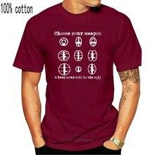 Hommes Et Dames choisissez votre arme détecteur de métaux t-shirt Hommes Dames bobine à sol Slogan adultes T-Shirt décontracté chemise
