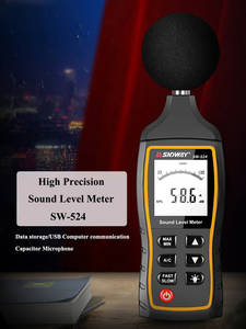 Sndway Decibel-Monitoring-Tester Sound-Level-Meter Noise-Volume-Measuring-Instrument