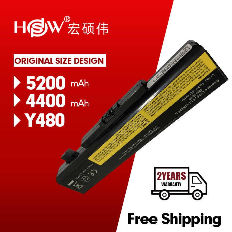 HSW بطارية كمبيوتر محمول لينوفو Y580 Y480 G510 G580 G710 G480 Z480 Z580 Z585 L11M6Y01 L11L6Y01 L11L6F01 L11L6R01 L11N6R01