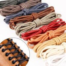 1 пара вощеный хлопок круглый обувь шнурки кожа водонепроницаемость шнурки броги обувь мартин ботинки шнурки спорт шнурки 80% 2F120см