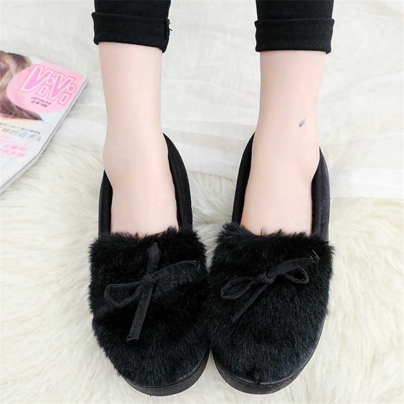 DORATASIA yeni sıcak satış kız kış sıcak düz çizmeler bayanlar kürk Docorating yarım çizmeler kadın 2019 gündelik slip-on ayakkabılar kadın