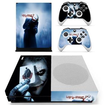 Estilo Joker para XBOX ONE, pegatina para consola de juegos delgada, calcomanías de vinilo y 2 uds controladores Skins para Xbox One, pegatina delgada