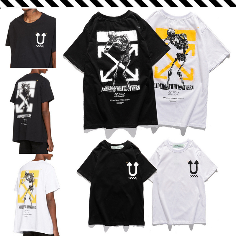 Popular Brand Off X Undercover White Takahashi Shield 20ss Skeleton Printed Joint T-shirt Men And Women Short Sleeve