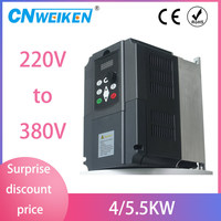 Frequency Converter For Motor 380V 3KW/4KW/5.5KW 220V 1P Input And Three Output 380V 50hz/60hz AC Drive VFD Frequency Inverter