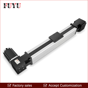 Image 1 - Free Shipping 200~3000mm stroke cnc belt drive linear guide slide rail actuator with motor 0.1mm accurancy