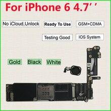 מקורי משלוח iCloud סמארטפון האם עבור iPhone 6 היגיון לוח מגע מזהה בית כפתור 16GB 64GB 128GB 32GB