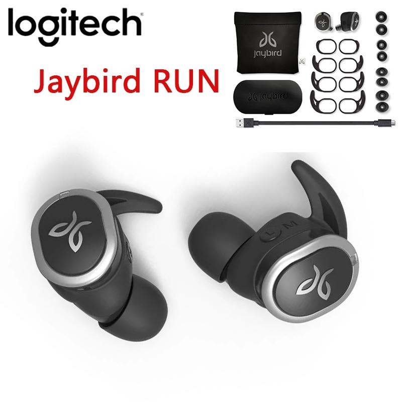 Беспроводные наушники Logitech Jaybird RUN True, новые оригинальные, для бега, безопасная посадка, водонепроницаемые, влагозащищенные, на заказ, 12 часо...