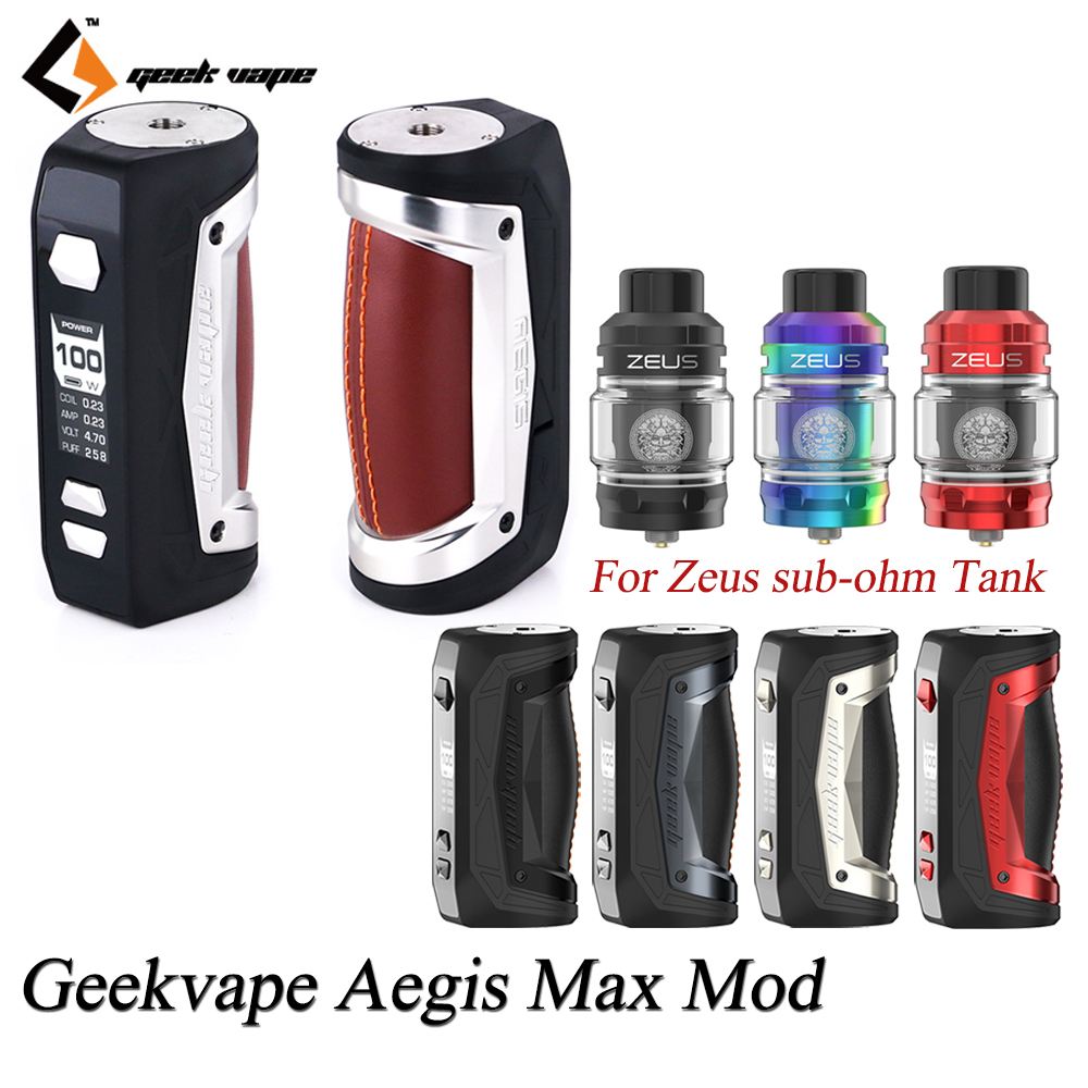 Geekvape Aegis Max MOD TC MOD With Max 100W Output By 21700/18650 Battery For Zeus Sub Ohm Tank Mesh Z1 Coil VS Aegis Solo