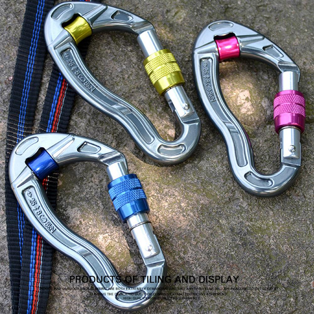 Mountaineering Caving Rock Climbing Carabiner Anti-skid Rope Main Lock Fish Shape Carabiner Clip Locking Hook With Pulley Fine