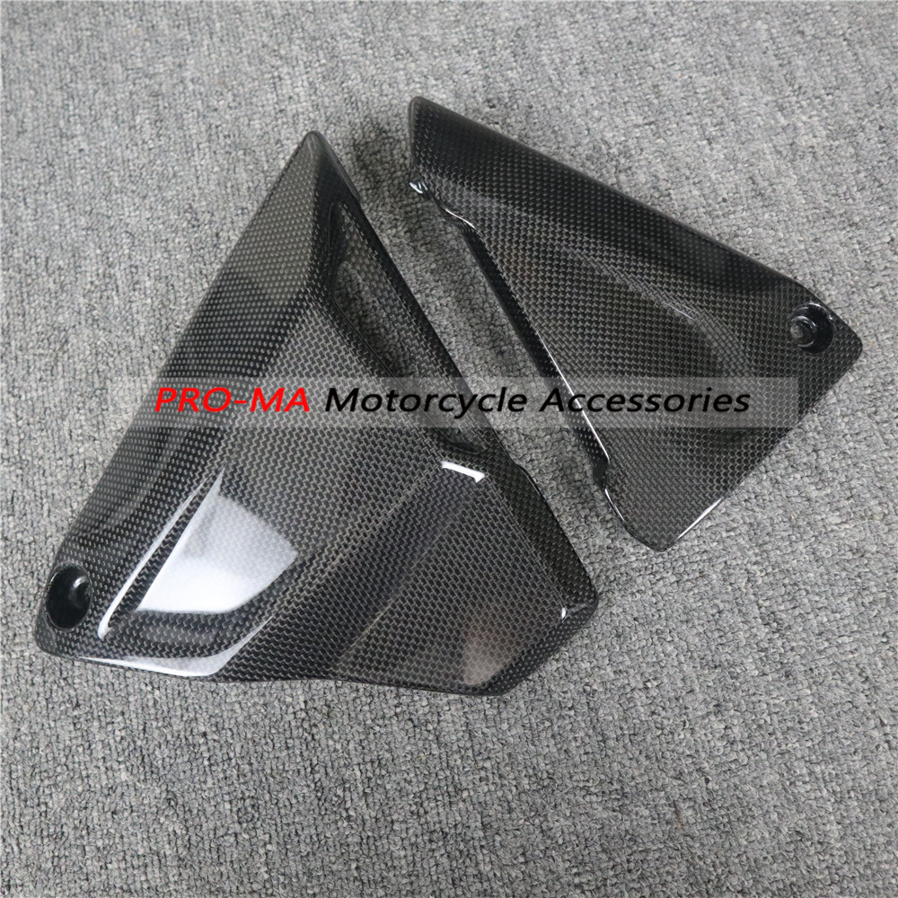 Motorcycle Battery Side Covers In Carbon Fiber For BMW R1200GS 2013-2019,R1200R R1200RS 2015+ Plain Glossy Weave