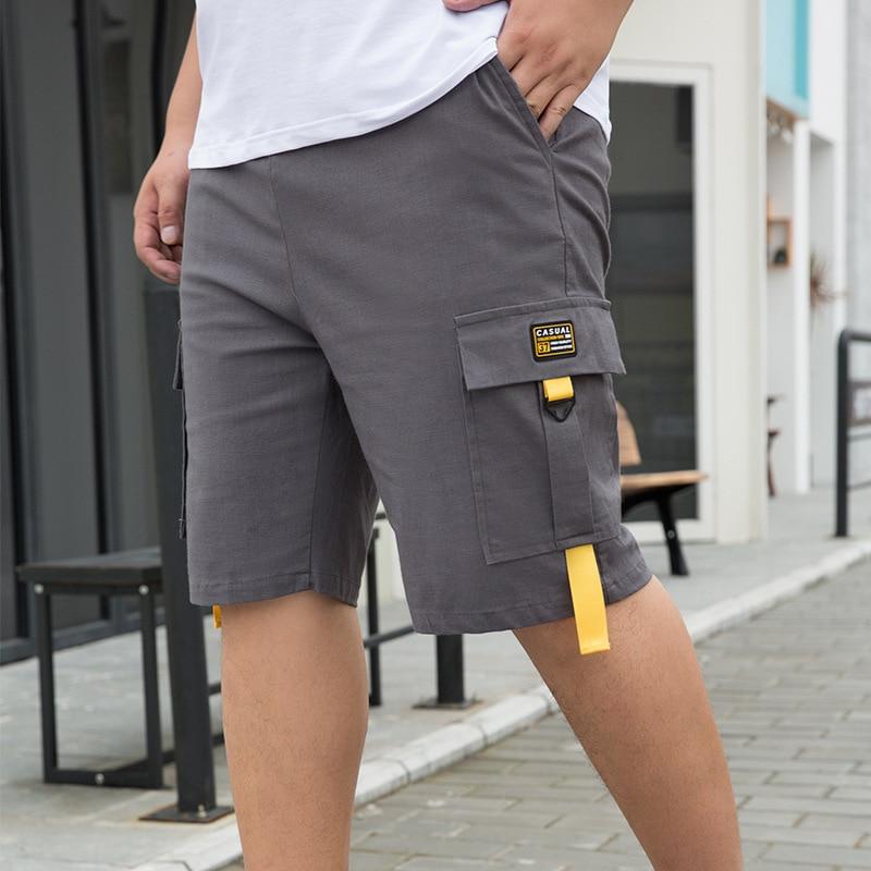 Men's Loose Fit Oversized Knee Length Shorts Summer Casual Cotton Cargo Shorts Men Tactical Work Casual Short Pants 7XL 8XL 9XL