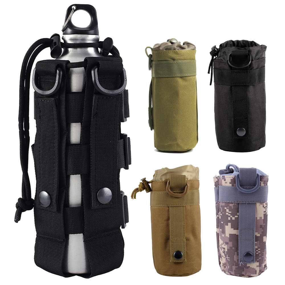Molle Water Bottle Pouch 600D Tactical Army Kettle Pouch Camping Accessory Airsoft Hunting Dump Drop Water Bag Holster