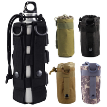 600D Tactical MOLLE Top Open Water Bottle Pouch Army Kettle Pouch Camping Accessory Airsoft Hunting Water Bag Holder 6Colors onetigris commando water bottle holder tactical bottle pouch molle utility water pouch hook clasp fits nalgene 32oz 1l bushcraft