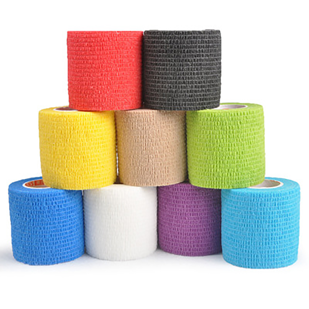 1Roll Pet Livestock Flexible Self Adherent Cohesive Bandage Elastic Vet Tape For Cattle Cow Sheep Cat Animal Care Clinic