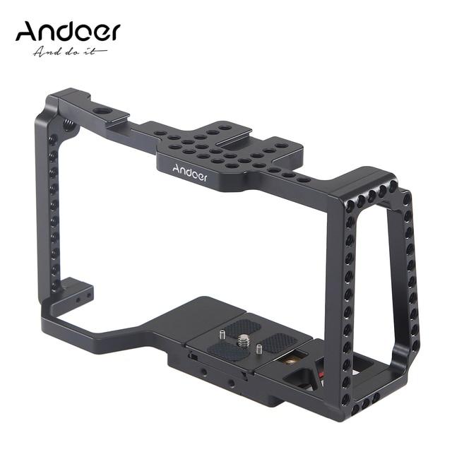 Andoer camera Cage Video Film Movie Cage with Quick Release Plate For Vlog cameras Blackmagic Pocket Cinema Camera 4K/6K BMPCC
