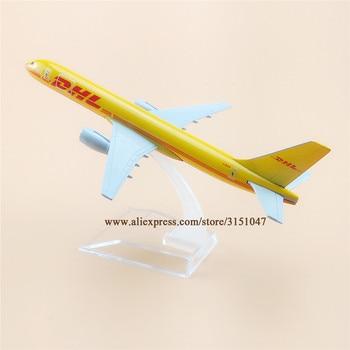 Avión aéreo amarillo DHL Airlines Boeing 757 B757 Airways modelo de aleación de Metal modelo avión fundido a presión 16cm regalo