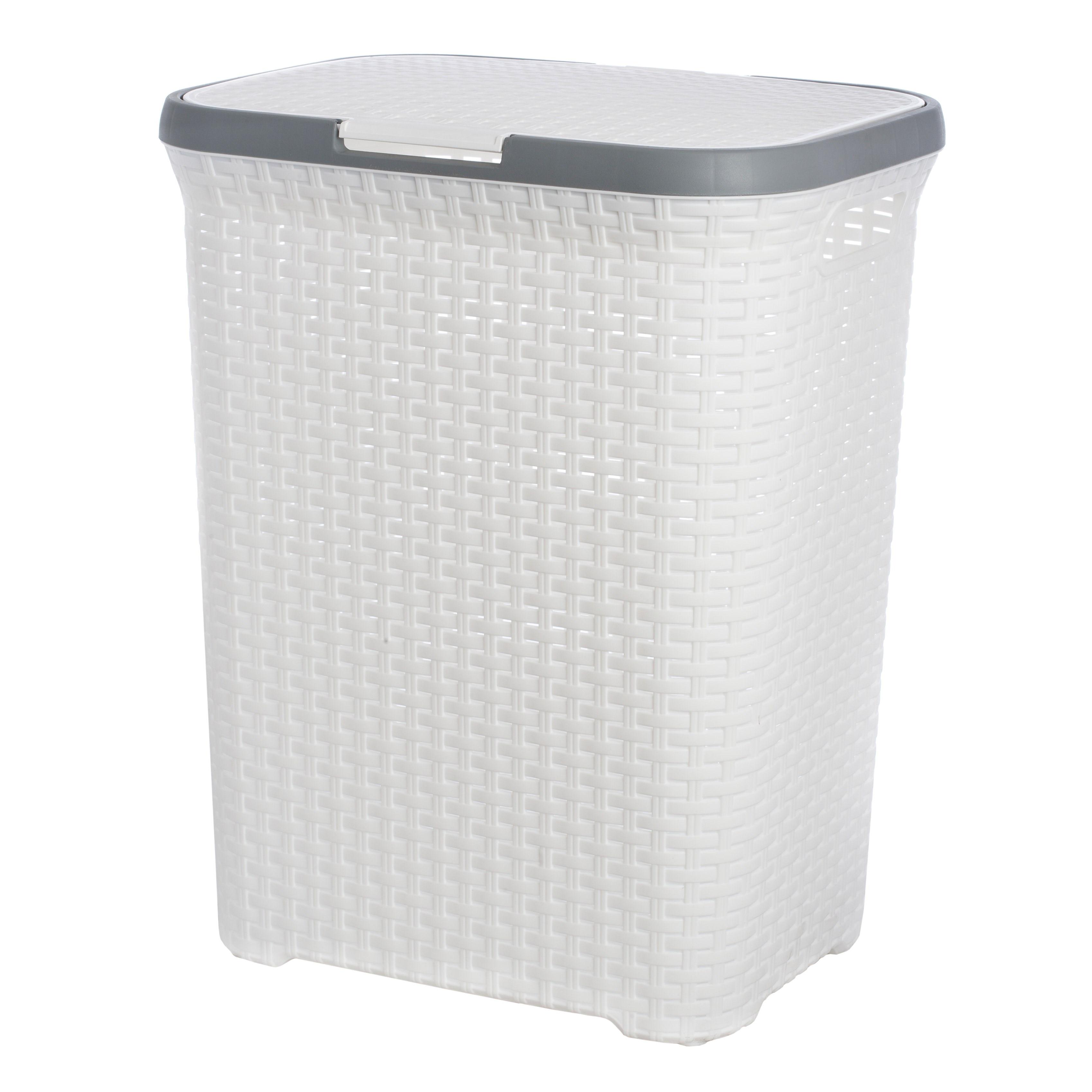 Laundry Basket ARTLINE Home Storage Organization Laundry Storage  Organization With Lid 60 L Plastic 37x30x48