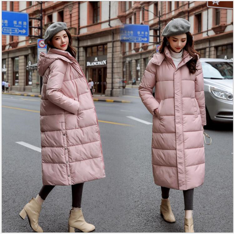 women jacket winter hooded warm coat 5 color cotton padded jacket female long   parka   women wadded jaqueta feminina Z112