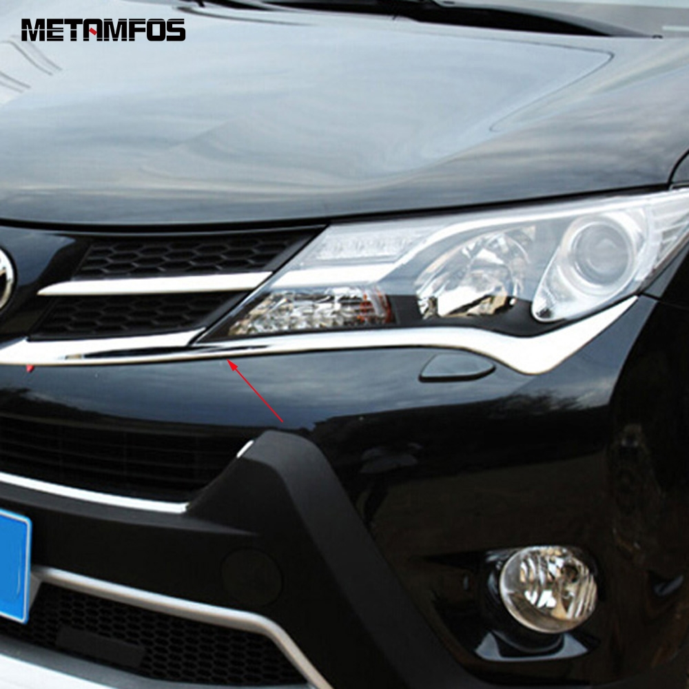 1PCS Chrome Dashboard Fanel decorative frame Trim for Toyota RAV4 2014-2015