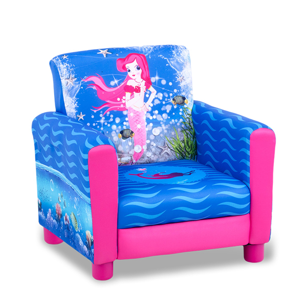 Lovely Mermaid Cartoon Small Princess Kids Sofa Chair Single Person Baby Sofa One Seat Bean Bag Zitzak Children Bedroom