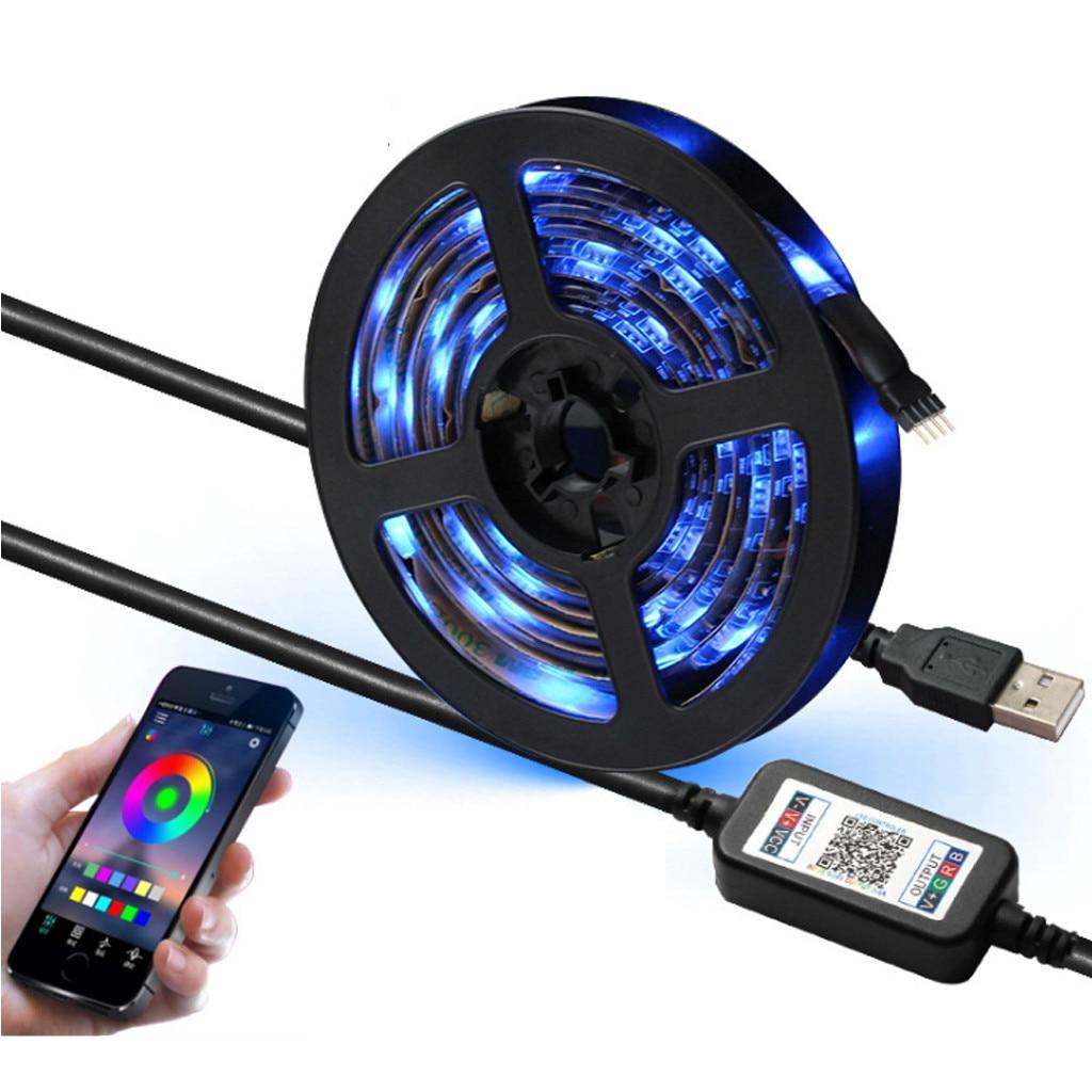 RGB SMD 2835 5M DC12V led Strips Light Flexible Strip Lamp IR WIFI Controller