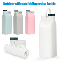 600ml Outdoor Silicone Collapsible Cup Tourism Tourism Supplies Sports Bottle can CSV
