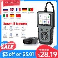 KUULAA-escáner OBD2 V311 para coche, motor de herramienta de diagnóstico, lector de código OBD 2, probador de escáner automotriz, 8 idiomas