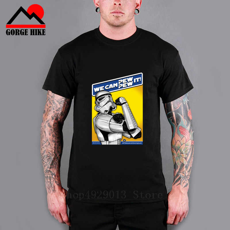 Parody Star Men S T Shirt We Can Pew Pew It Wars Awesome Artwork Printed Tee Fashion Empire Trooper T Shirts Darth Vader Top Tee T Shirts Aliexpress
