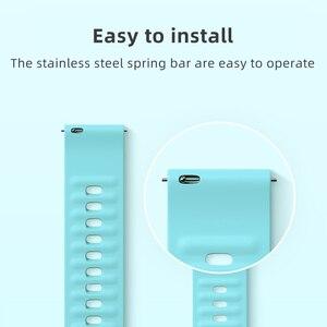 Image 2 - 20mm Original Bunte Huami Amazfit Weiche Silikon Armband für Amazfit Bip & Bip Lite & GTR & GTS mit geschenk box Amazift Strap