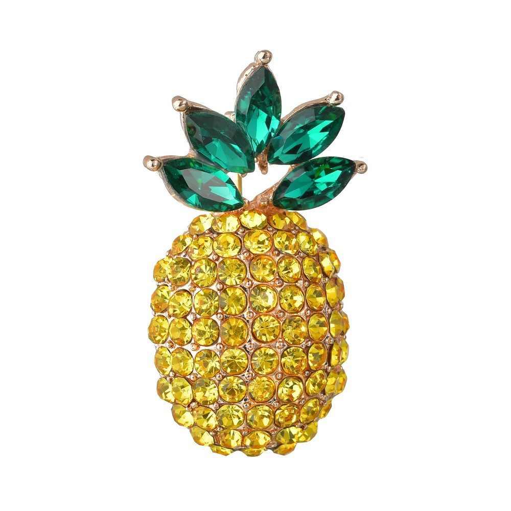 KingDeng Ananas Spille Donne Gioelleria raffinata e alla moda Coreano Accessori di Cristallo Perla Dello Smalto Della Lega Spilli Regali Gioielli Carino Verde