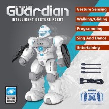 Smart Programming RC Robot Gesture Sensing Walk Glide Switch Fire Bullet Automatic Demo Sing&Dance Eduactional RC Toy For Kids(China)