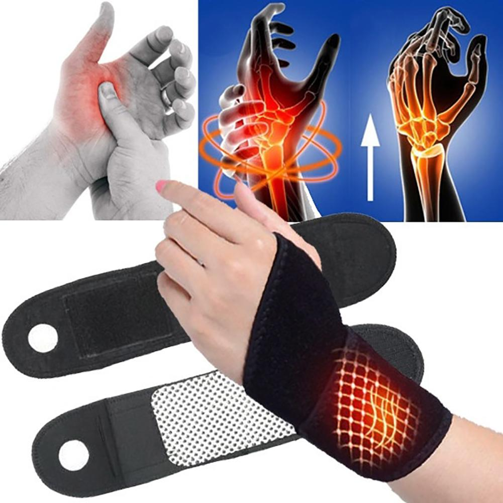 Self-Heating Magnetic Wristband for Healing Arthritis Rheumatism Sports Injury Strains (1 Pair)
