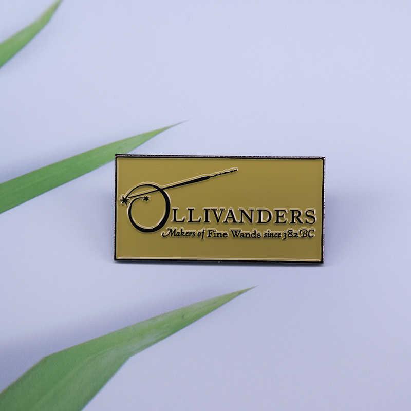 Ollivanders Bros Tongkat Sihir Pin Penggemar Tambahan Yang Bagus