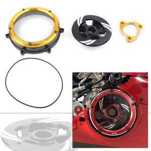 Aluminum Motorcycle Clutch Cover Protector Guard Clear for 2012-2020 Ducati Panigale 1199 1299 959 R S Gold