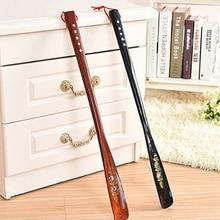 Shoe-Horn Long-Handle Wooden 1pc 55cm Craft Mahogany Wenge Professional Ultra-Long