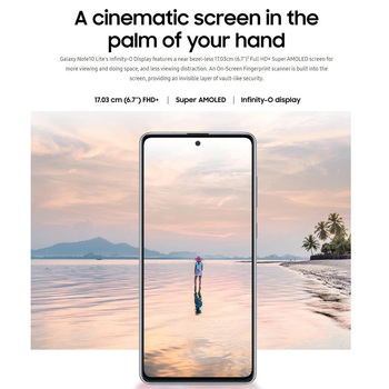"""Global Version Samsung Galaxy Note 10 Lite N770F/DS 8GB 128GB Mobile Phone 6.7"""" Exynos 9810 Front 32MP Dual SIM NFC Smartphone 2"""