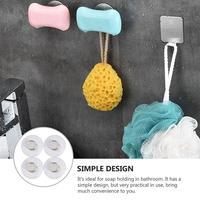 4 stücke Kreative Magnetische Seife Halter Badezimmer Wand Hängen Seife Halter Seife Box Saugnapf Regal Magnetische Seife Halter (silber)