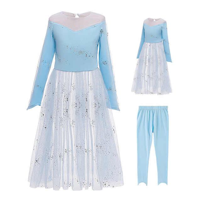 Платье Эльзы 2 Детские платья для девочек, маскарадный костюм «Анны» карнавальный костюм платье для дня рождения; платье принцессы для девочек Детская Костюмы