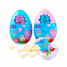 New Peppa pig Girl Adventure Fun Egg Toy Cartoon Pattern Change Action Character Model Milk Candy Snack Boy Girl pink pig George цена и фото