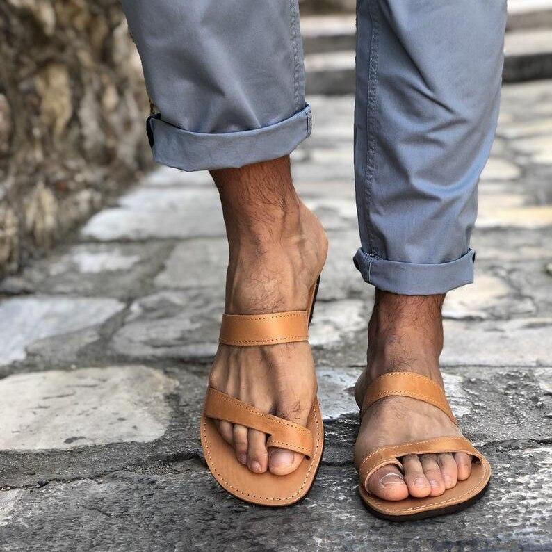 Sandálias de Verão para Mulheres dos Homens Calçados ao ar Roma Sandálias Casal Unissex Sapatos 2020 Casuais Retro Costura Plana Chinelos Livre Tamanho Grande 35-48