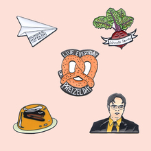 ZF182 The Office TV Show Dunder Mifflin Jewelry Enamel Pins And Brooches Cartoon Creative